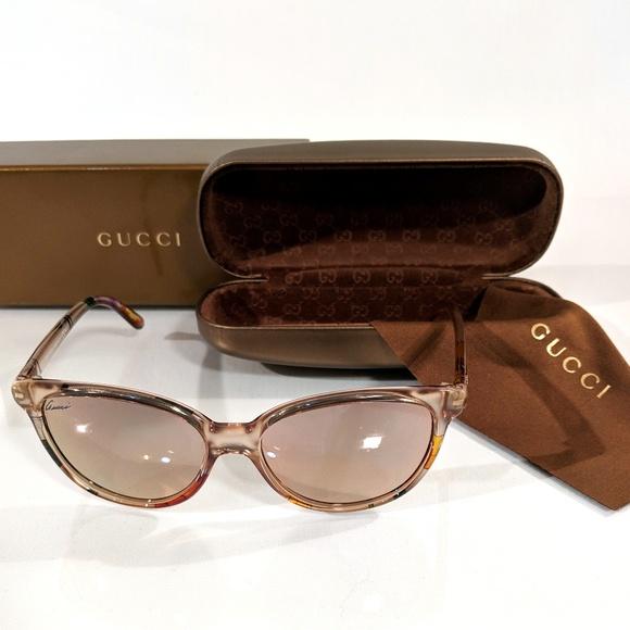 69f576ddcb GUCCI GG 3633 N S Beige Floral Mirrored Sunglasses
